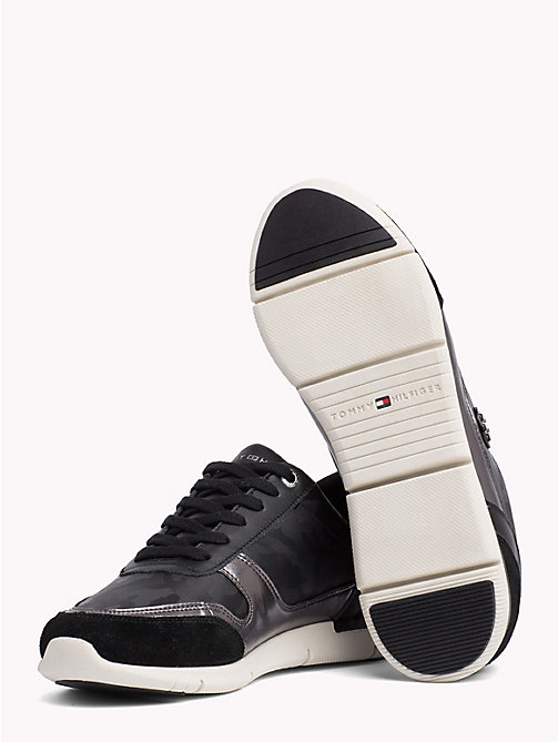 TOMMY HILFIGER Metallic Light Trainers - BLACK - TOMMY HILFIGER NEW IN - detail image 1