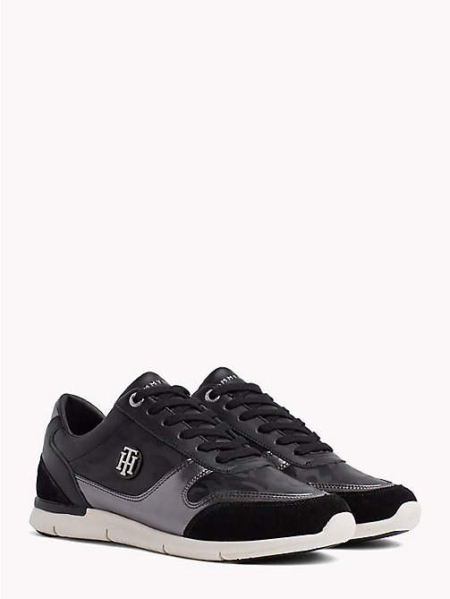 TOMMY HILFIGER Metallic Light Trainers - BLACK - TOMMY HILFIGER NEW IN - main image