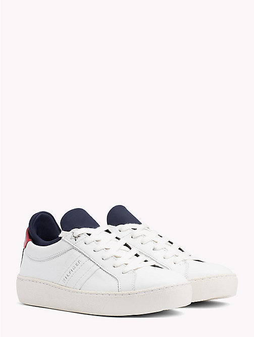 TOMMY HILFIGER Colour-Blocked Flag Trainers - RWB - TOMMY HILFIGER Signature stripes - main image