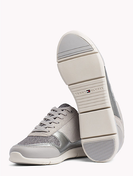 TOMMY HILFIGER Lightweight Sparkle Trainers - DIAMOND GREY - TOMMY HILFIGER Trainers - detail image 1