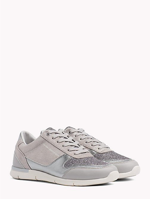 TOMMY HILFIGER Lightweight Sparkle Trainers - DIAMOND GREY - TOMMY HILFIGER Trainers - main image