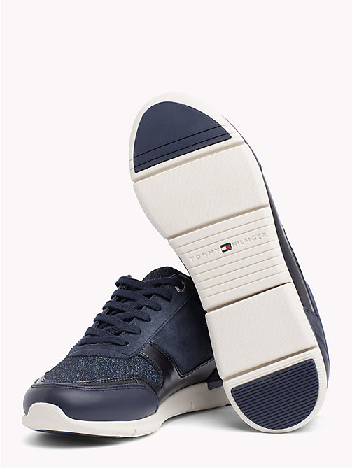 TOMMY HILFIGER Sneakers leggere glitterate - TOMMY NAVY - TOMMY HILFIGER Sneakers - dettaglio immagine 1