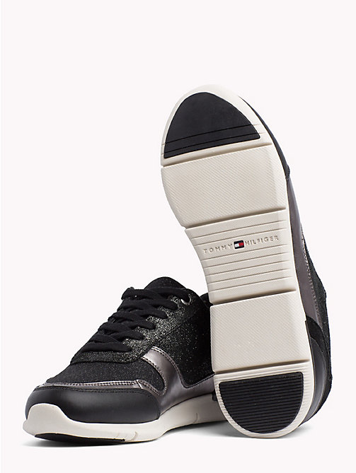 TOMMY HILFIGER Lightweight Sparkle Trainers - BLACK - TOMMY HILFIGER Trainers - detail image 1