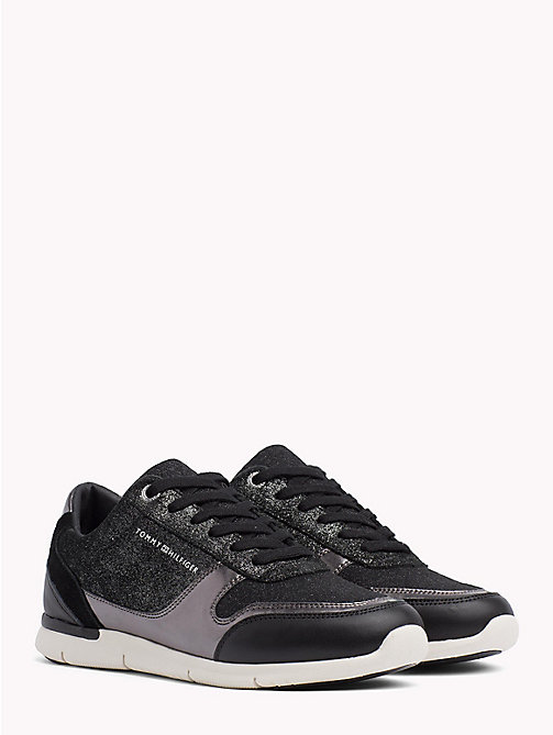TOMMY HILFIGER Lightweight Sparkle Trainers - BLACK - TOMMY HILFIGER Trainers - main image