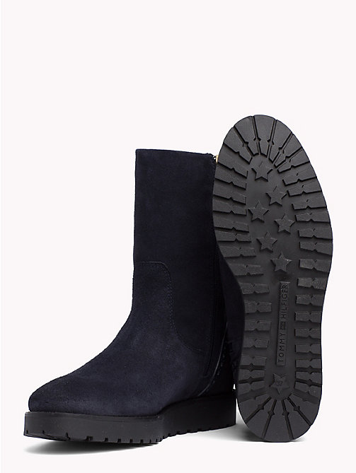 TOMMY HILFIGER Suede Booties - MIDNIGHT - TOMMY HILFIGER Ankle Boots - detail image 1