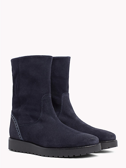 TOMMY HILFIGER Suede Booties - MIDNIGHT - TOMMY HILFIGER Ankle Boots - main image