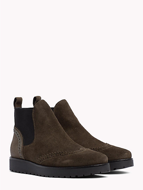 TOMMY HILFIGER Suede Chelsea Boots - MUSK - TOMMY HILFIGER Ankle Boots - main image
