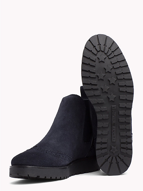 TOMMY HILFIGER Suede Chelsea Boots - MIDNIGHT - TOMMY HILFIGER Shoes - detail image 1