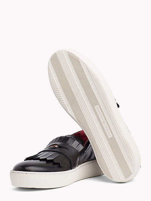 TOMMY HILFIGER Baskets à franges inspiration mocassins - BLACK - TOMMY HILFIGER Chaussures - image détaillée 1