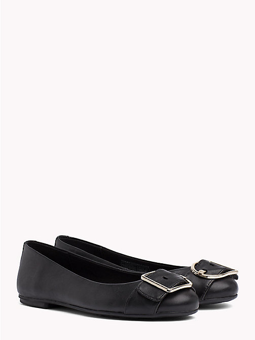 TOMMY HILFIGER Buckle Ballerina Shoes - BLACK - TOMMY HILFIGER Shoes - main image