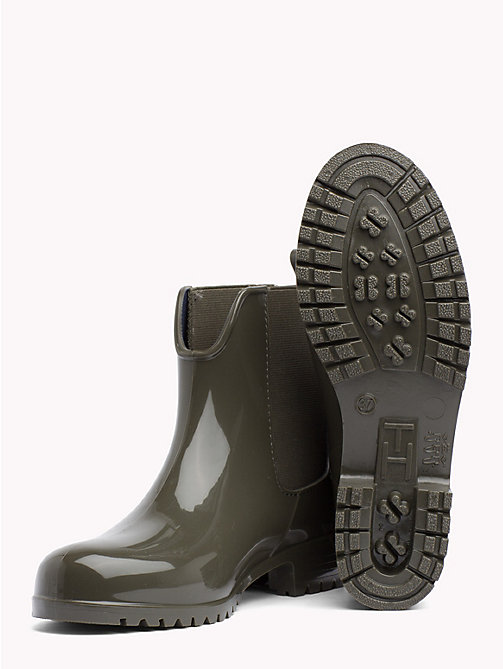 TOMMY HILFIGER Signature Tape Buckle Short Rain Boots - MILITARY - TOMMY HILFIGER Shoes - detail image 1