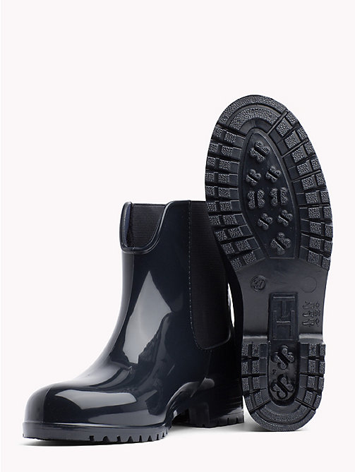 TOMMY HILFIGER Signature Tape Buckle Short Rain Boots - MIDNIGHT - TOMMY HILFIGER Shoes - detail image 1