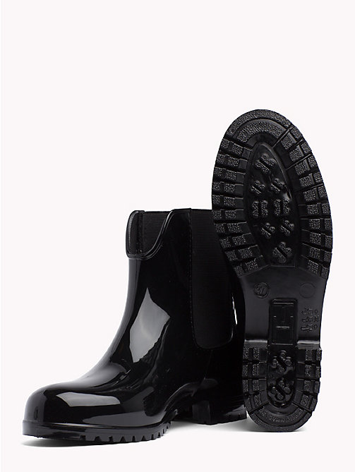 TOMMY HILFIGER Signature Tape Buckle Short Rain Boots - BLACK - TOMMY HILFIGER Best Sellers - detail image 1