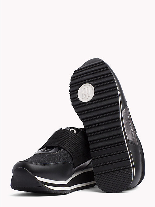 TOMMY HILFIGER Elasticated Strap Trainers - BLACK - TOMMY HILFIGER NEW IN - detail image 1