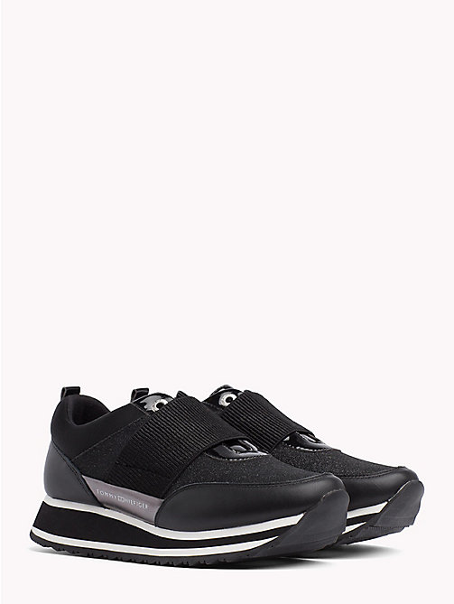 TOMMY HILFIGER Elasticated Strap Trainers - BLACK - TOMMY HILFIGER NEW IN - main image