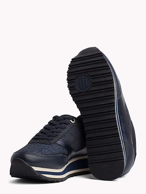 TOMMY HILFIGER Metallic Retro Trainers - MIDNIGHT - TOMMY HILFIGER Best Sellers - detail image 1