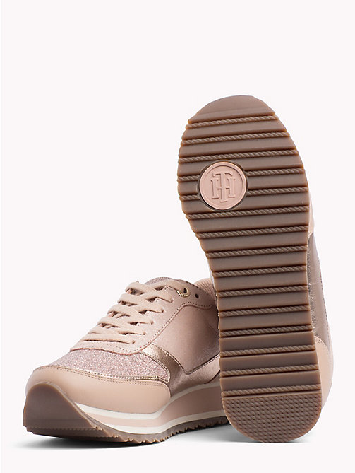 TOMMY HILFIGER Metallic Retro Trainers - MAHOGANY ROSE - TOMMY HILFIGER Trainers - detail image 1