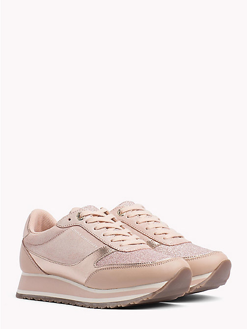 TOMMY HILFIGER Metallic Retro Trainers - MAHOGANY ROSE - TOMMY HILFIGER Trainers - main image