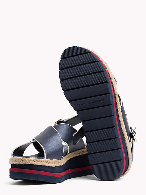 TOMMY HILFIGER Flatform Criss Cross Sandals - MIDNIGHT - TOMMY HILFIGER Sandals - detail image 1