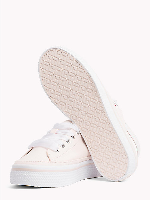 TOMMY HILFIGER Cotton Slingback Flatform Trainers - SILVER PEONY - TOMMY HILFIGER VACATION FOR HER - detail image 1