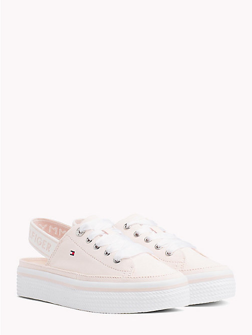 TOMMY HILFIGER Cotton Slingback Flatform Trainers - SILVER PEONY - TOMMY HILFIGER VACATION FOR HER - main image
