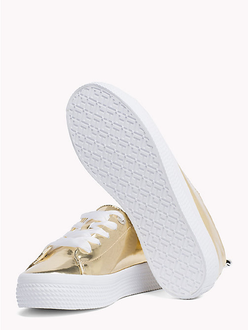 TOMMY HILFIGER Mirror Metallic Flatform Trainers - LIGHT GOLD - TOMMY HILFIGER Trainers - detail image 1