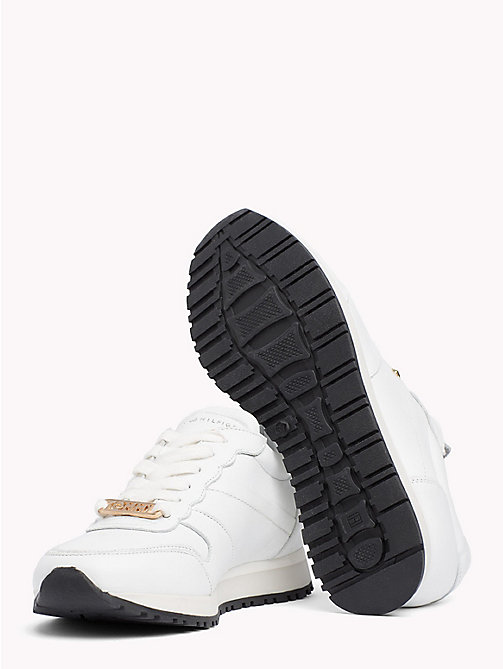 TOMMY HILFIGER Leather Star Stud Trainers - WHISPER WHITE - TOMMY HILFIGER Trainers - detail image 1