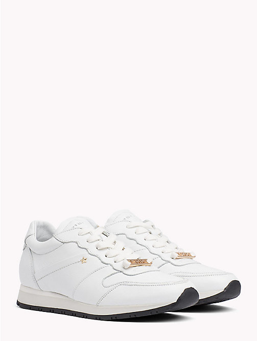 TOMMY HILFIGER Leather Star Stud Trainers - WHISPER WHITE - TOMMY HILFIGER Trainers - main image