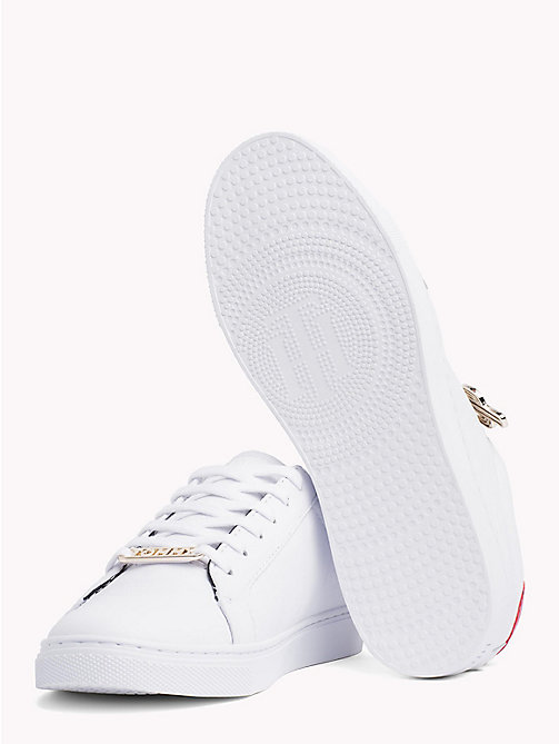 TOMMY HILFIGER Embellished Leather Trainers - WHITE - TOMMY HILFIGER VACATION FOR HER - detail image 1