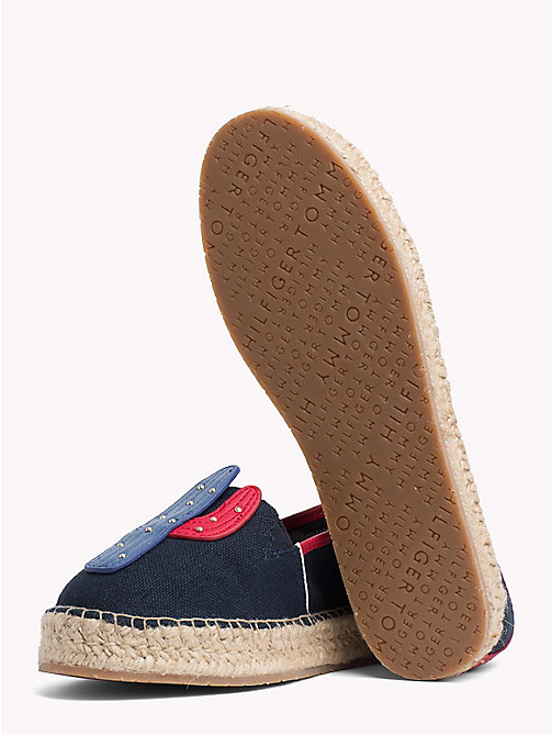 TOMMY HILFIGER Leather Appliqué Espadrilles - MIDNIGHT - TOMMY HILFIGER VACATION FOR HER - detail image 1