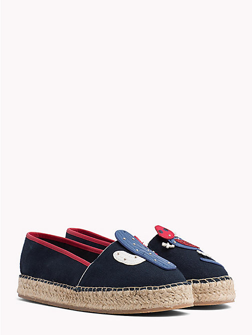 TOMMY HILFIGER Leather Appliqué Espadrilles - MIDNIGHT - TOMMY HILFIGER Shoes - main image