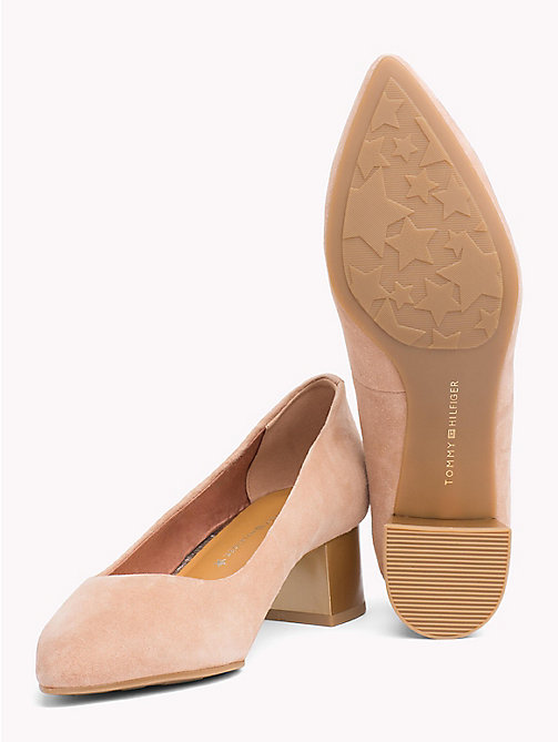 TOMMY HILFIGER Suede Mid Heel Pumps - SILKY NUDE - TOMMY HILFIGER Pumps - detail image 1