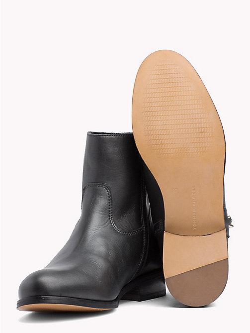 TOMMY HILFIGER Leder-Stiefelette in Metallic - BLACK - TOMMY HILFIGER NEW IN - main image 1