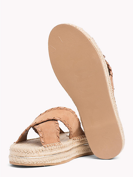 TOMMY HILFIGER Suede Espadrille Mule Sandals - SUMMER COGNAC - TOMMY HILFIGER VACATION FOR HER - detail image 1