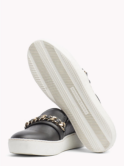 TOMMY HILFIGER Metallic Chain Detail Slip-On Trainers - BLACK - TOMMY HILFIGER Shoes - detail image 1