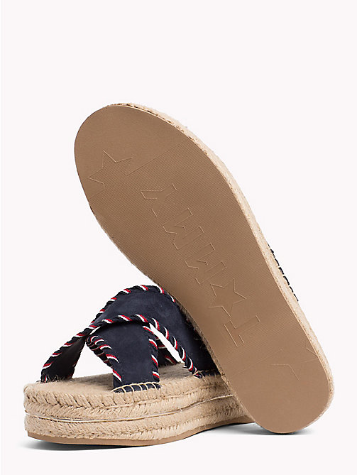 TOMMY HILFIGER Suede Espadrille Mule Sandals - RWB - TOMMY HILFIGER VACATION FOR HER - detail image 1