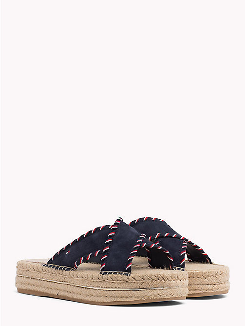 TOMMY HILFIGER Suede Espadrille Mule Sandals - RWB - TOMMY HILFIGER VACATION FOR HER - main image