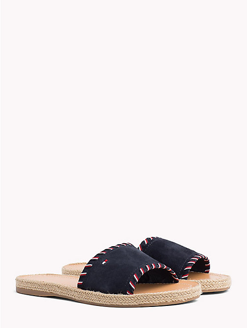 TOMMY HILFIGER Signature Tape Suede Slip-On Sandals - RWB - TOMMY HILFIGER Sandals - main image