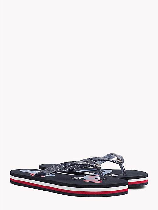 TOMMY HILFIGER Gecko Print Flip-Flops - MIDNIGHT - TOMMY HILFIGER VACATION FOR HER - main image