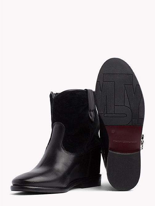TOMMY HILFIGER Star Buckle Wedge Boots - BLACK - TOMMY HILFIGER Ankle Boots - detail image 1