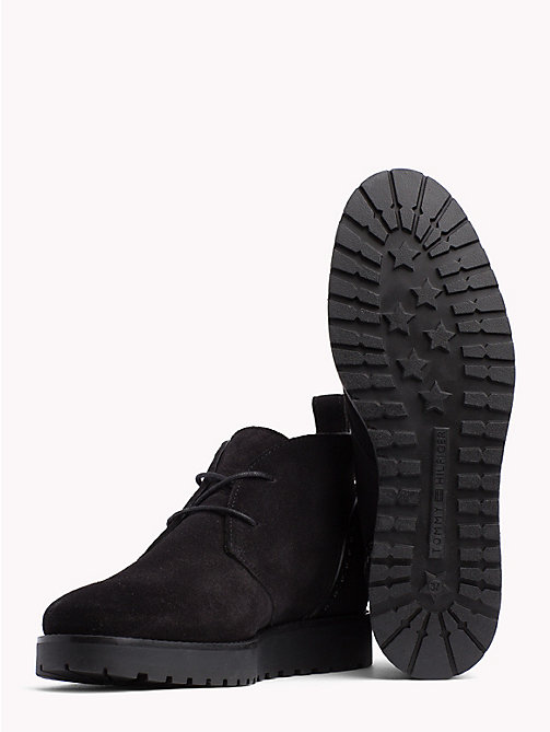 TOMMY HILFIGER Lace-Up Suede Booties - BLACK - TOMMY HILFIGER Shoes - detail image 1