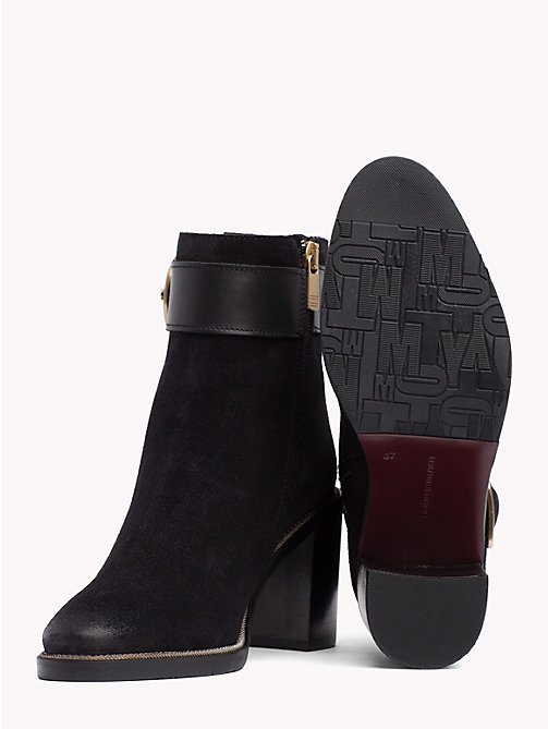 TOMMY HILFIGER Heeled Buckle Boots - BLACK - TOMMY HILFIGER Shoes - detail image 1