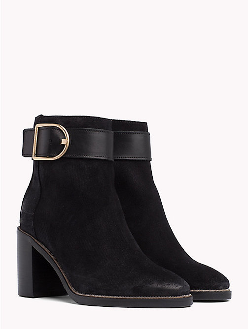 TOMMY HILFIGER Heeled Buckle Boots - BLACK - TOMMY HILFIGER Shoes - main image
