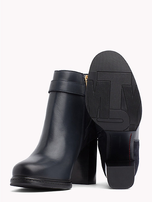 TOMMY HILFIGER Chain Embellished Heeled Ankle Boots - MIDNIGHT - TOMMY HILFIGER The shoe edit - detail image 1