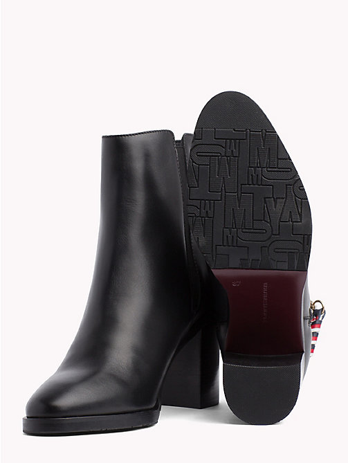 TOMMY HILFIGER Zip Detail Ankle Boots - BLACK - TOMMY HILFIGER Shoes - detail image 1