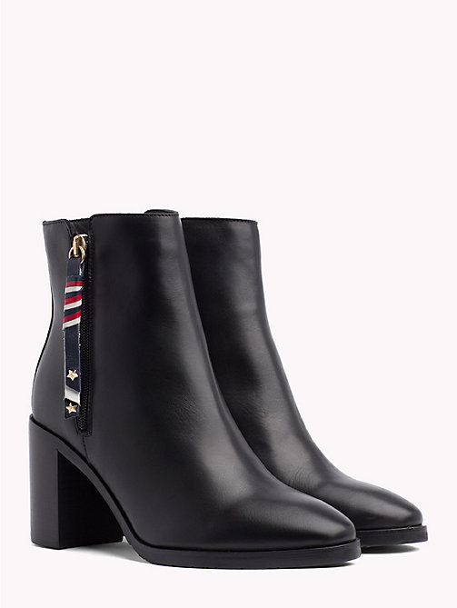 TOMMY HILFIGER Zip Detail Ankle Boots - BLACK - TOMMY HILFIGER Shoes - main image
