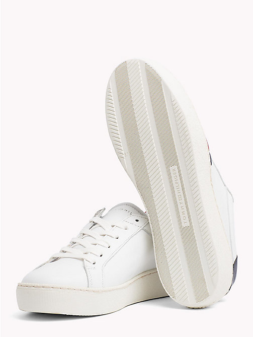 TOMMY HILFIGER Signature Stripe Leather Trainers - WHITE - TOMMY HILFIGER VACATION FOR HER - detail image 1