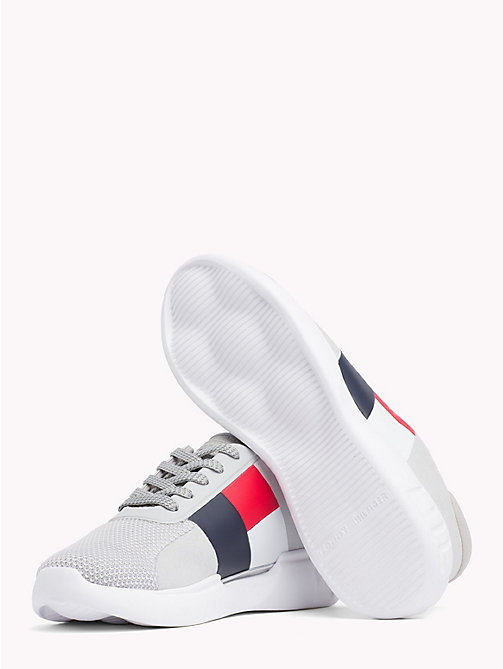 TOMMY HILFIGER Lightweight Colour-Blocked Flag Trainers - DIAMOND GREY - TOMMY HILFIGER Trainers - detail image 1