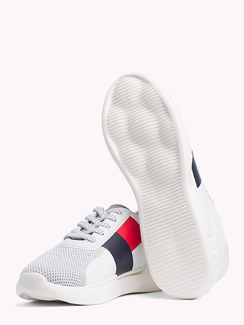 TOMMY HILFIGER Lightweight Colour-Blocked Flag Trainers - WHITE - TOMMY HILFIGER Trainers - detail image 1