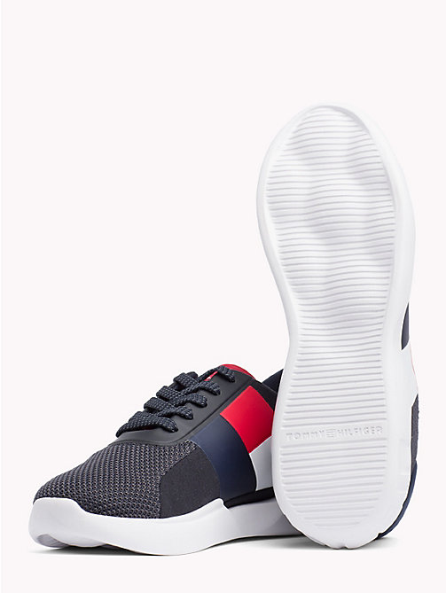 TOMMY HILFIGER Lightweight Colour-Blocked Flag Trainers - MIDNIGHT - TOMMY HILFIGER Trainers - detail image 1